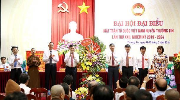Huyện Thường Tín tổ chức thành công  Đại hội đại biểu MTTQ Việt Nam Huyện lần thứ XXII, nhiệm kỳ 2019-2024