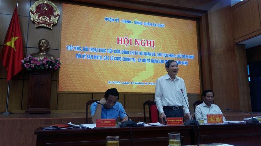 Quận Ba Đình tổ chức đối thoại với Ủy ban MTTQ, các đoàn thể chính trị - xã hội và nhân dân quận năm 2019