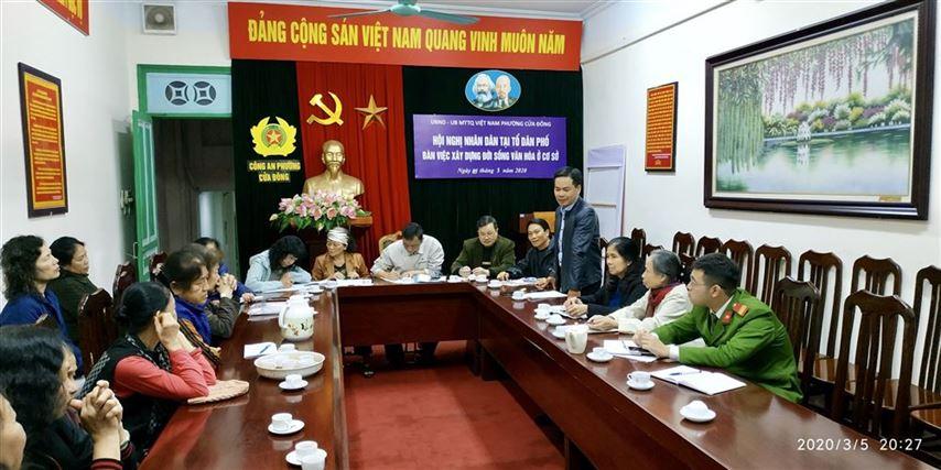 Quận Hoàn Kiếm tổ chức hội nghị đại biểu Nhân dân ở Tổ dân phố năm 2020