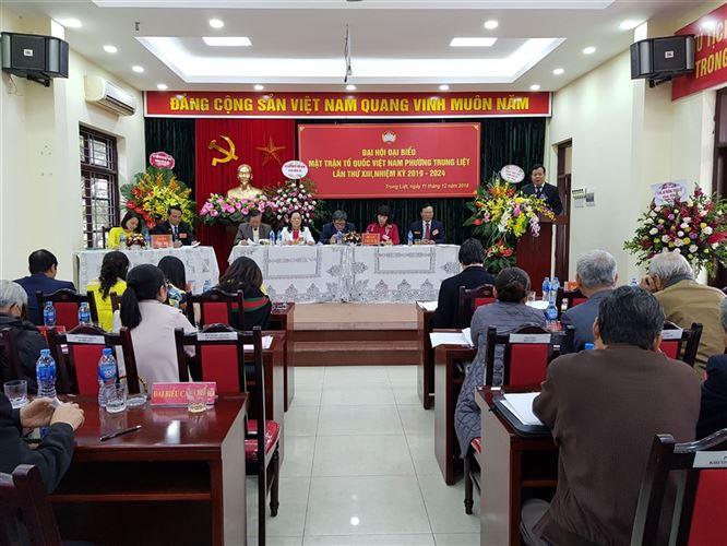 Đại hội điểm MTTQ Việt Nam phường Trung Liệt, quận Đống Đa thành công tốt đẹp