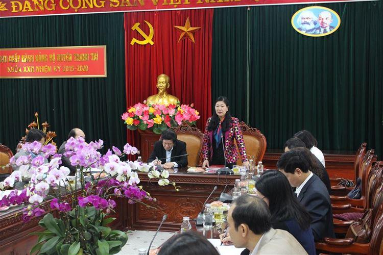 Kiểm tra công tác chuẩn bị Đại hội Đảng và công tác phòng, chống dịch Covid 19 tại huyện Thanh Trì