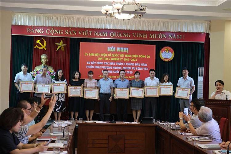 Ủy ban MTTQ Việt Nam quận Đống Đa tổ chức kỳ họp thứ 5 khóa XVI,  nhiệm kỳ 2019 - 2024