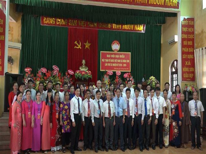 Đại hội điểm MTTQ Việt Nam xã Hồng Sơn, huyện Mỹ Đức