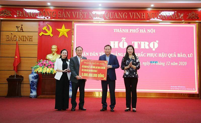 Hà Nội hỗ trợ tỉnh Quảng Bình xây điểm trường kiêm nhà tránh lũ cộng đồng