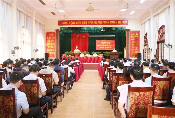 Đoàn đại biểu Quốc hội TP Hà Nội tiếp xúc cử tri trước kỳ họp thứ 9