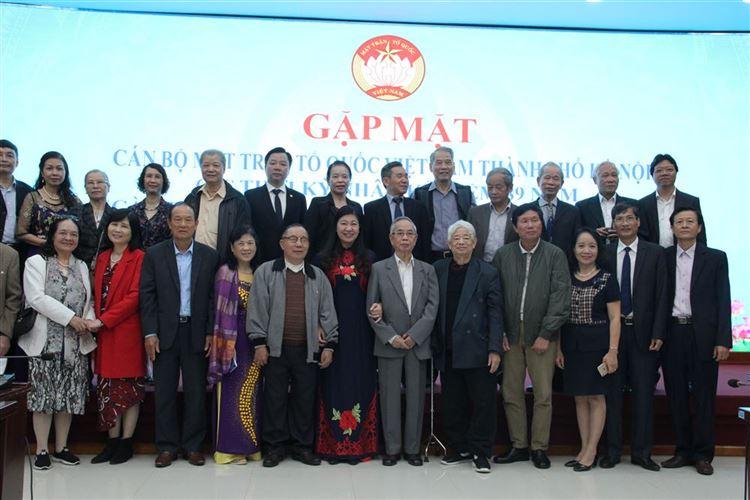 Ủy ban MTTQ Việt Nam TP Hà Nội gặp mặt cán bộ các thời kỳ nhân ngày truyền thống