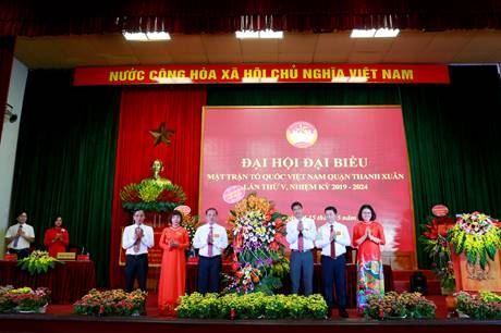 Quận Thanh Xuân tổ chức thành công Đại hội đại biểu MTTQ Việt Nam quận lần thứ V, nhiệm kỳ 2019 - 2024