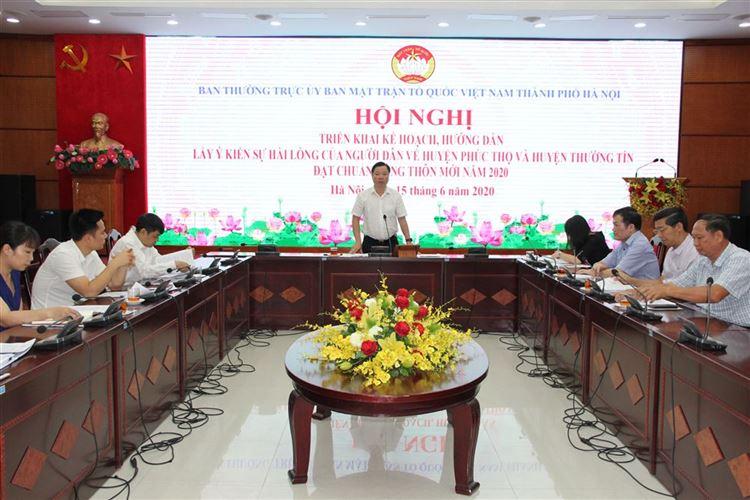 Hướng dẫn triển khai lấy ý kiến hài lòng của người dân về huyện Phúc Thọ và huyện Thường Tín đạt chuẩn nông thôn mới năm 2020