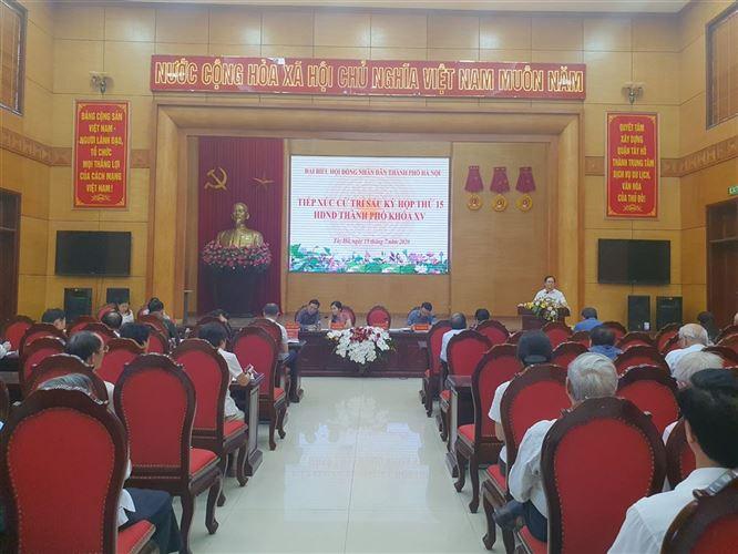 Đại biểu HĐND TP đã tiếp xúc cử tri quận Tây Hồ sau kỳ họp thứ 15, HĐND TP khóa XV