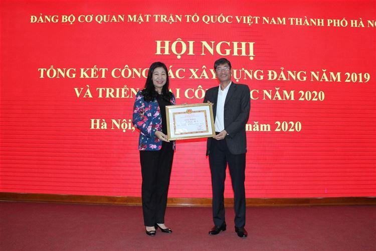 Uỷ ban MTTQ Việt Nam TP Hà Nội tổ chức hội nghị tổng kết công tác xây dựng Đảng năm 2019 và triển khai công tác năm 2020
