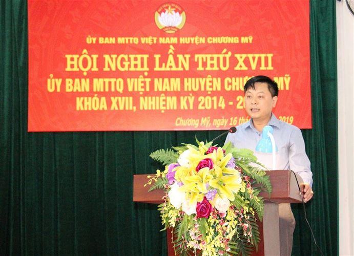 Hội nghị lần thứ 17 Ủy ban MTTQ Việt Nam huyện Chương Mỹ khóa XVII nhiệm kỳ 2014 - 2019