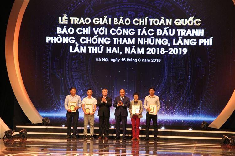 """Lễ trao giải báo chí toàn quốc """"Báo chí với công tác đấu tranh phòng, chống tham nhũng, lãng phí"""" lần thứ hai, năm 2018-2019"""