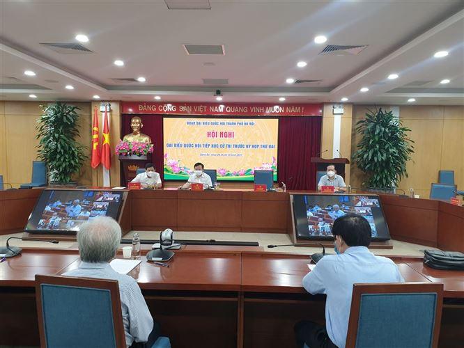 Đoàn đại biểu Quốc hội  ứng cử đơn vị bầu cử số 1 của Thành phố Hà Nội tiếp xúc cử tri quận Đống Đa, Ba Đình và Hai Bà Trưng trước kỳ họp thứ Hai, Quốc hội khoá XV