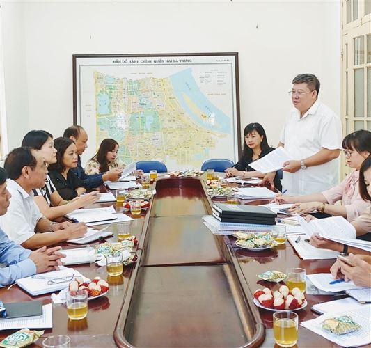 Ủy ban MTTQ Việt Nam quận Hai Bà Trưng khảo sát công tác Mặt trận tổ quốc cơ sở 9 tháng đầu năm 2019