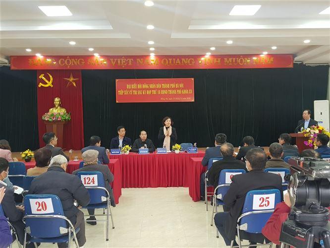 Đại biểu HĐND Thành phố tiếp xúc cử tri sau kỳ họp thứ 18 tại quận Đống Đa