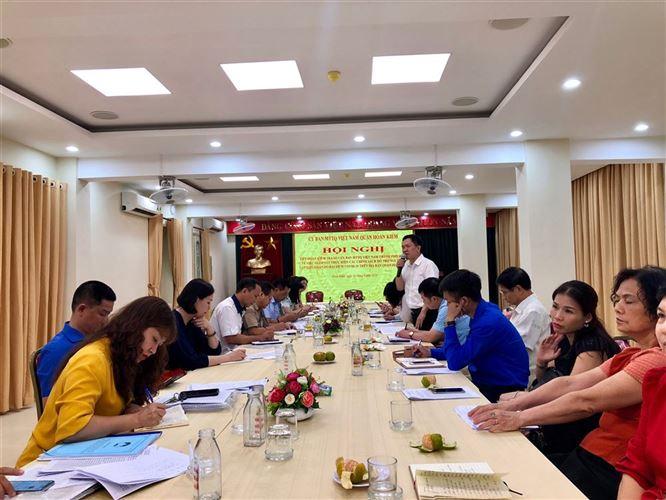 Ủy ban MTTQ Việt Nam thành phố Hà Nội kiểm tra việc giám sát thực hiện các chính sách hỗ trợ người dân gặp khó khăn do đại dịch Covid-19 trên địa bàn quận Hoàn Kiếm