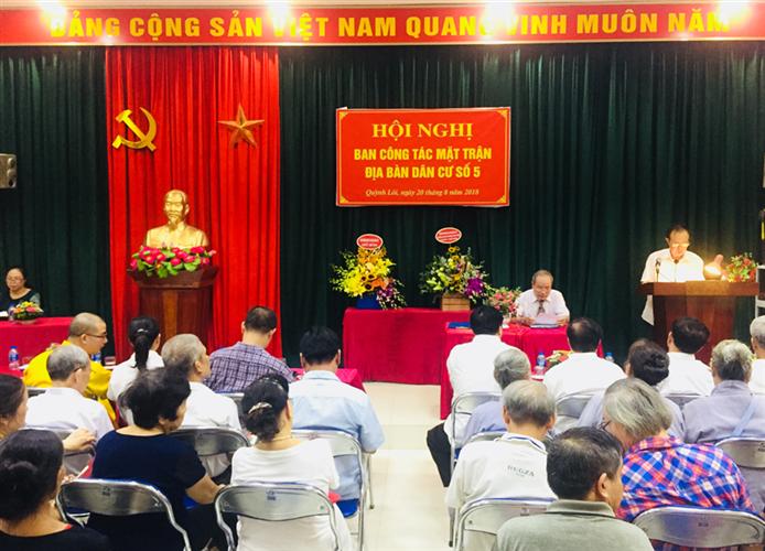 Hội nghị điểm Ban công tác Mặt trận địa bàn dân cư số 5  phường Quỳnh Lôi, quận Hai Bà Trưng