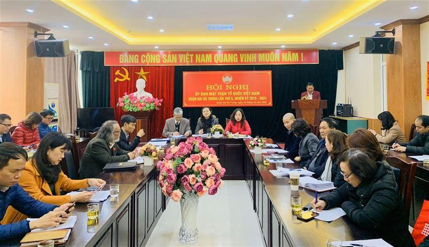 Hội nghị Ủy ban MTTQ Việt Nam quận Hai Bà Trưng lần thứ 6 khóa XV, nhiệm kỳ 2019-2024