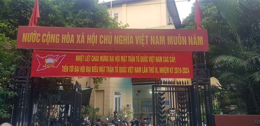 Quận Đống Đa đẩy mạnh công tác tuyên truyền chào mừng Đại hội đại biểu MTTQ Việt Nam thành phố Hà Nội khóa XVII, nhiệm kỳ 2019-2024
