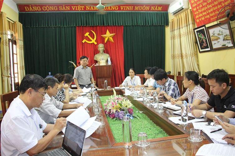 Ủy ban MTTQ Việt Nam huyện Chương Mỹ giám sát việc thực hiện các chính sách hỗ trợ người dân gặp khó khăn do đại dịch Covid-19