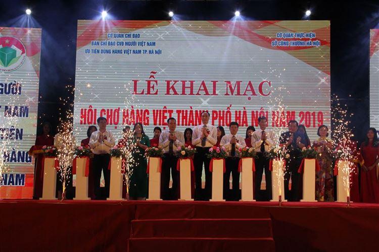 Khai mạc Hội chợ hàng Việt thành phố Hà Nội 2019