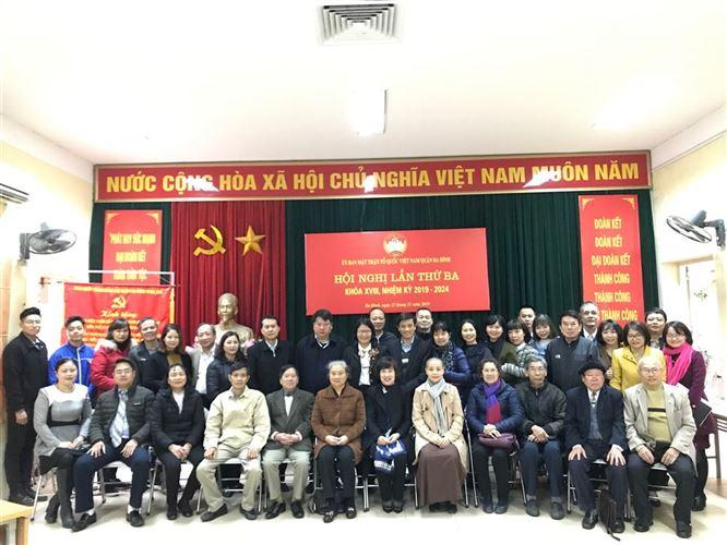 Ba Đình hiệp thương Chủ tịch Ủy ban MTTQ Việt Nam quận khóa 18