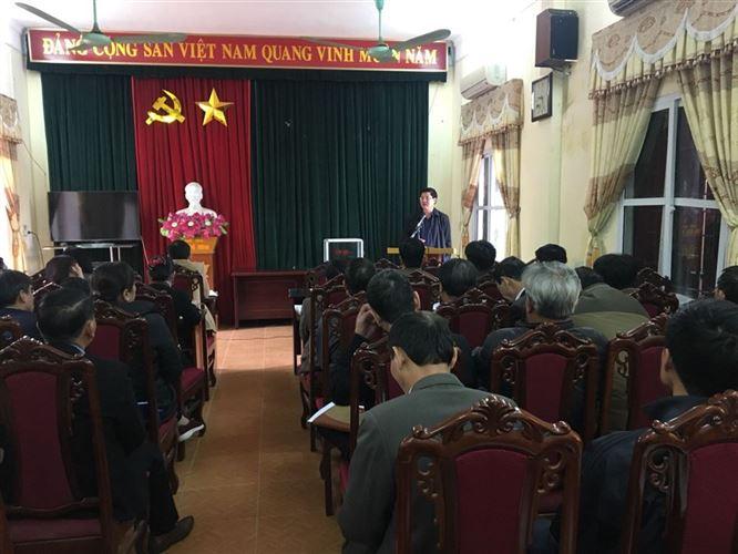 """huyện Ba Vì tổ chức hội nghị giao ban nắm bắt tiến độ vận động ủng hộ quỹ """"Vì Biển, đảo Việt Nam"""" năm 2019"""