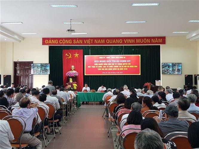 Quận Đống Đa tổ chức hội nghị đối thoại định kỳ giữa người đứng đầu cấp ủy, chính quyền với Mặt trận Tổ quốc, các tổ chức chính trị - xã hội và nhân dân trên địa bàn quận.