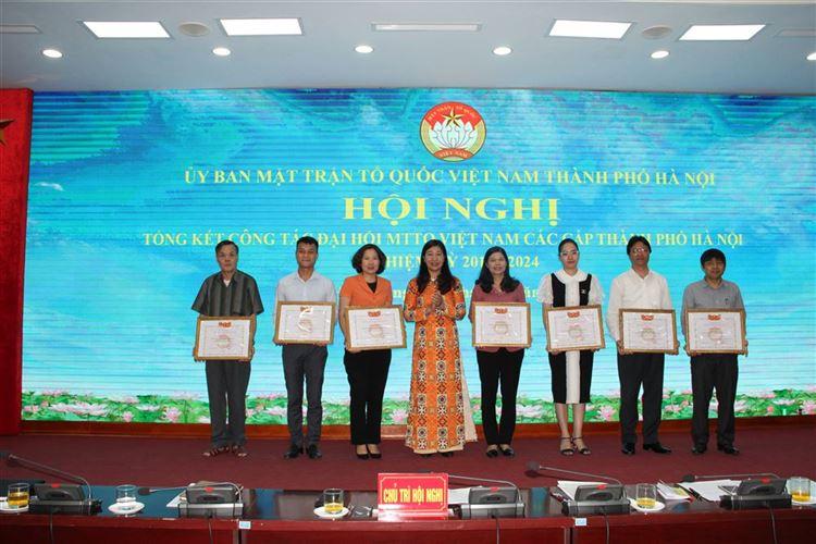 Hội nghị Uỷ ban MTTQ Việt Nam TP Hà Nội khoá XVII, lần II, nhiệm kỳ 2019 - 2024