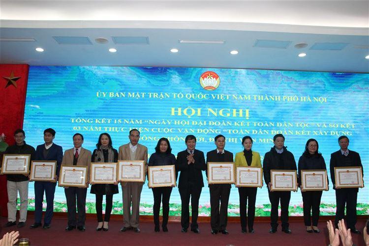 """Ủy ban MTTQ Việt Nam thành phố Hà Nội tổ chức hội nghị tổng kết 15 năm """"Ngày hội Đại đoàn kết toàn dân tộc"""" ở khu dân cư (2003-2018)"""