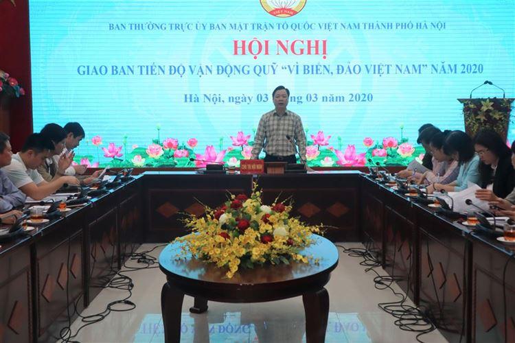 """Tăng cường tuyên truyền để mọi người dân hiểu và tự nguyện ủng hộ Quỹ """"Vì biển, đảo Việt Nam"""""""