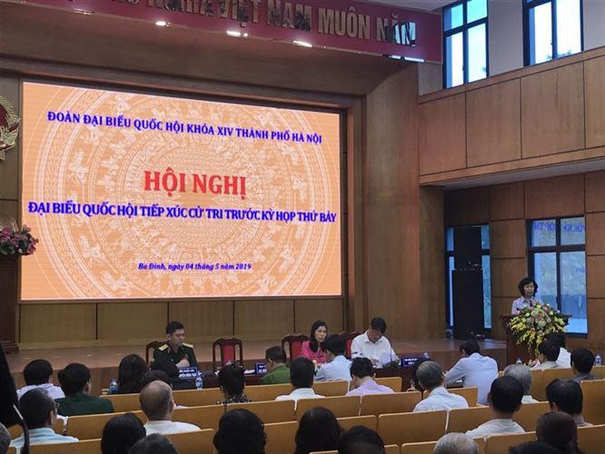 Tiếp xúc cử tri quận Ba Đình, Hoàn Kiếm với Đại biểu Quốc hội trước kỳ họp thứ 7