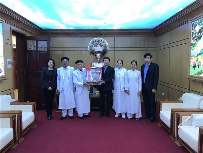 Họ đạo Cao đài thăm và chúc Tết Ủy ban MTTQ Việt Nam TP Hà Nội