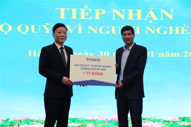 """Ủy ban MTTQ Việt Nam thành phố Hà Nội tiếp nhận 1 tỷ đồng ủng hộ Quỹ """"Vì người nghèo"""""""