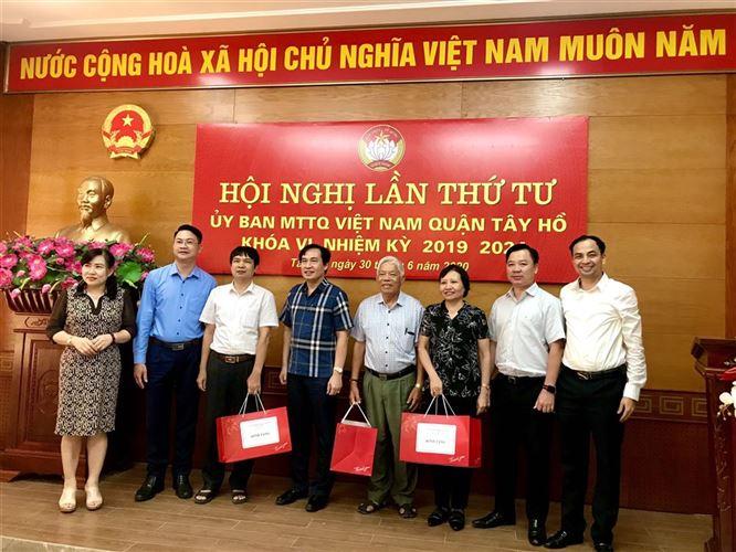 Hội nghị lần thứ Tư Ủy ban MTTQ Việt Nam quận Tây Hồ khóa VI, nhiệm kỳ 2019-2024