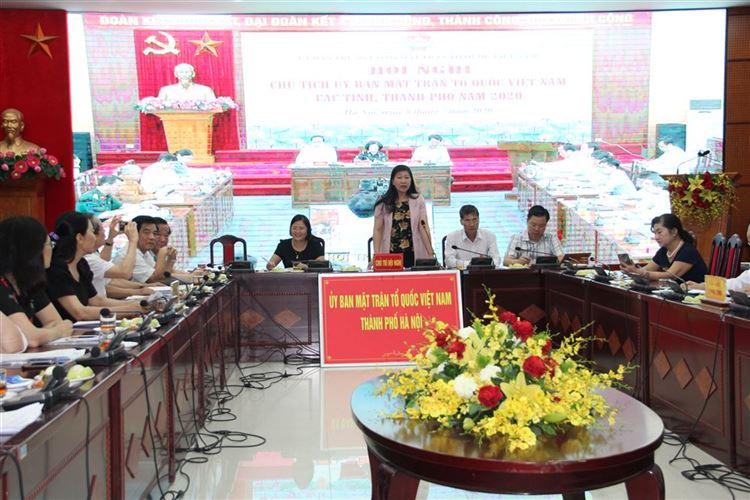 Hội nghị Chủ tịch Ủy ban Mặt trận Tổ quốc Việt Nam các tỉnh, thành phố năm 2020