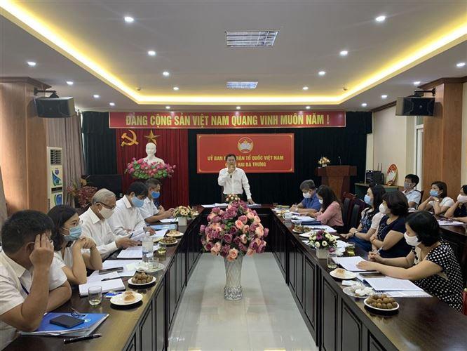 Ủy ban MTTQ Việt Nam TP kiểm tra hoạt động của Ban Thanh tra nhân dân, Ban Giám sát đầu tư của cộng đồng năm 2020 tại quận Hai Bà Trưng
