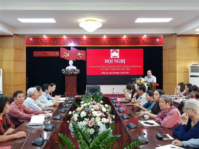 Hội nghị Ủy ban MTTQ Việt Nam quận Đống Đa lần thứ III, nhiệm kỳ 2019-2024.