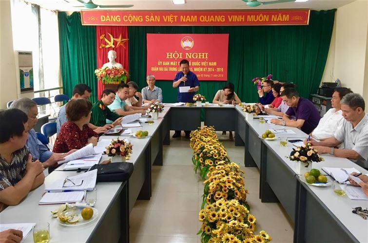 Quận Hai Bà Trưng tổ chức hội nghị Uỷ ban MTTQ Việt Nam lần thứ 15 nhiệm kỳ 2014 - 2019.
