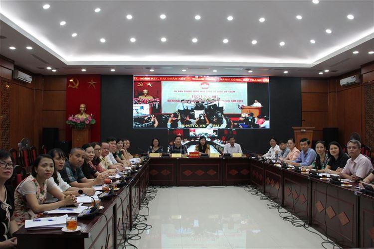 Khai trương hệ thống Hội nghị truyền hình trực tuyến và triển khai một số nhiệm vụ công tác Mặt trận những tháng cuối năm 2019