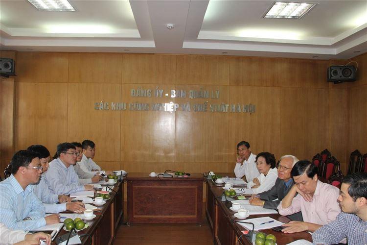 Giám sát việc thực hiện Nghị quyết 20 Hội nghị Trung ương 6 (khóa XI) về phát triển khoa học, công nghệ tại Ban quản lý các khu  công nghiệp và chế xuất Hà Nội