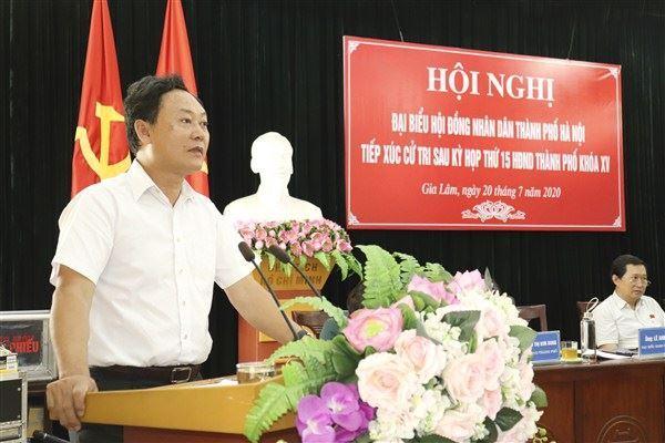 Đại biểu HĐND thành phố Hà Nội tiếp xúc cử tri huyện Gia Lâm sau kỳ họp thứ 15 HĐND Thành phố, khóa XV