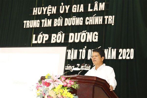 Ủy ban MTTQ Việt Nam huyện Gia Lâm khai mạc bồi dưỡng nghiệp vụ công tác Mặt trận năm 2020