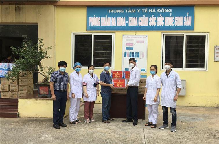 Ủy ban MTTQ Việt Nam Thành phố thăm và hỗ trợ nhu yếu phẩm phòng, chống dịch Covid-19 các Trung tâm y tế