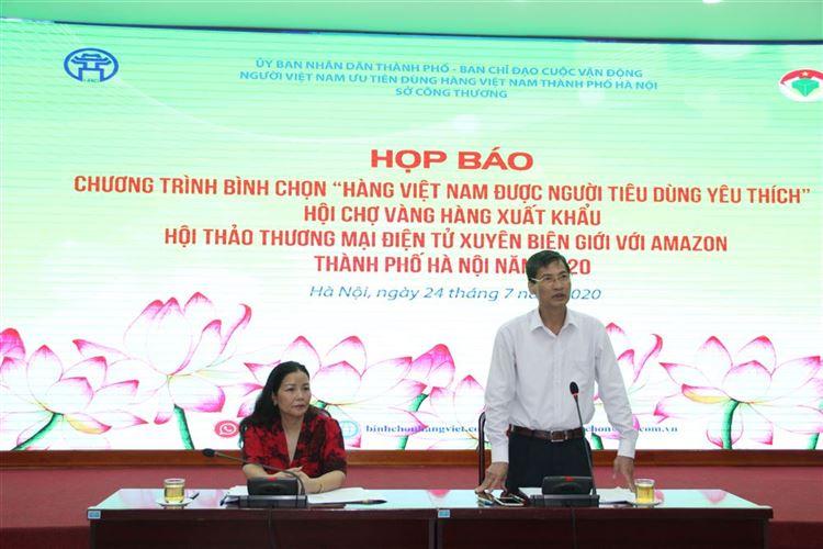 """Họp báo chương trình bình chọn """"Hàng Việt Nam được người tiêu dùng yêu thích"""" năm 2020"""