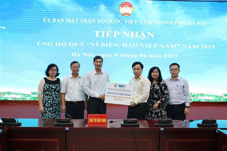 """Trên 40 tỷ đồng đã được Ủy ban MTTQ Việt Nam Thành phố Hà Nội tiếp nhận ủng hộ quỹ """"Vì Biển, đảo Việt Nam"""" năm 2019"""