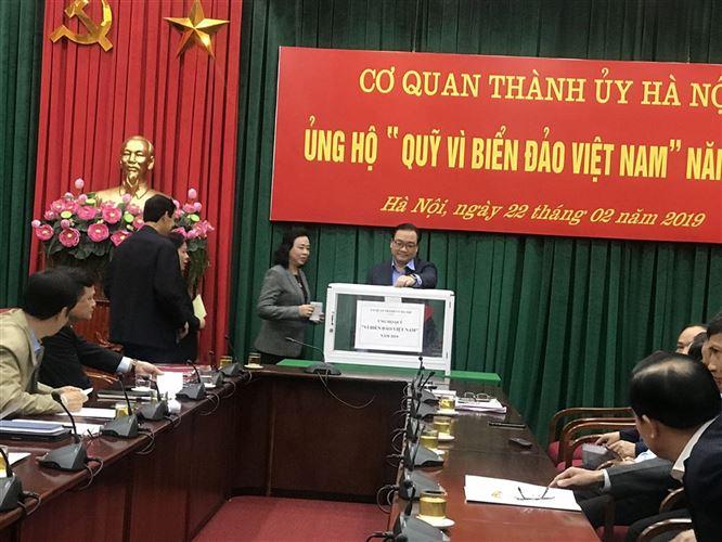 """Thành ủy Hà Nội ủng hộ Quỹ """"Vì Biển, đảo Việt Nam"""" năm 2019"""