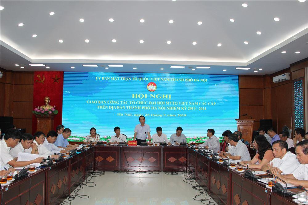Hội nghị giao ban công tác tổ chức Đại hội MTTQ Việt Nam các cấp trên địa bàn Thành phố