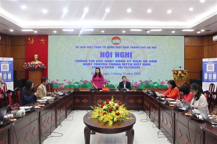 Các hoạt động kỷ niệm 90 năm Ngày truyền thống MTTQ Việt Nam tại Hà Nội sẽ được tổ chức hài hòa, trang trọng, tiết kiệm