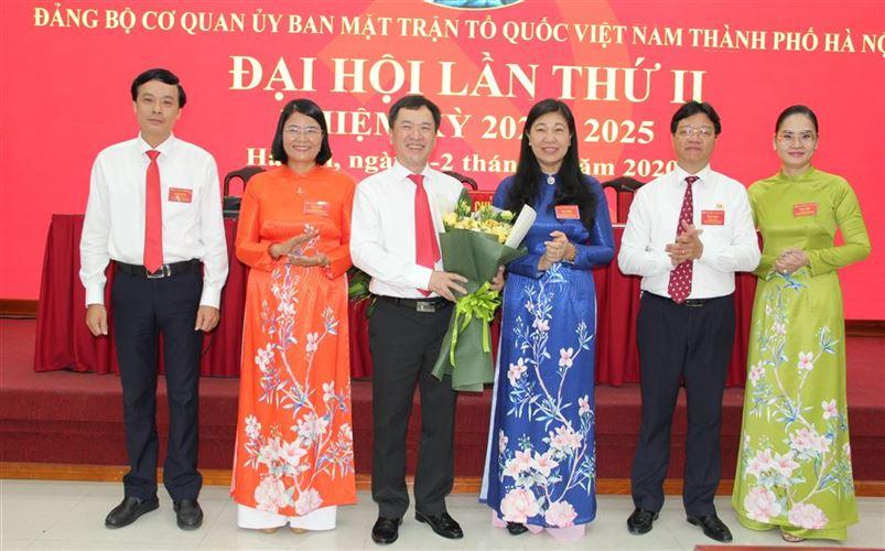 Đại hội Đảng bộ cơ quan Ủy ban MTTQ Việt Nam thành phố Hà Nội lần thứ II, nhiệm kỳ 2020 - 2025 thành công tốt đẹp